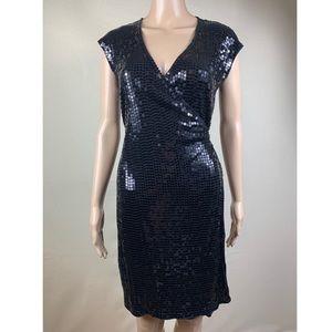 💫Michael Kors, Sequins Black Dress.